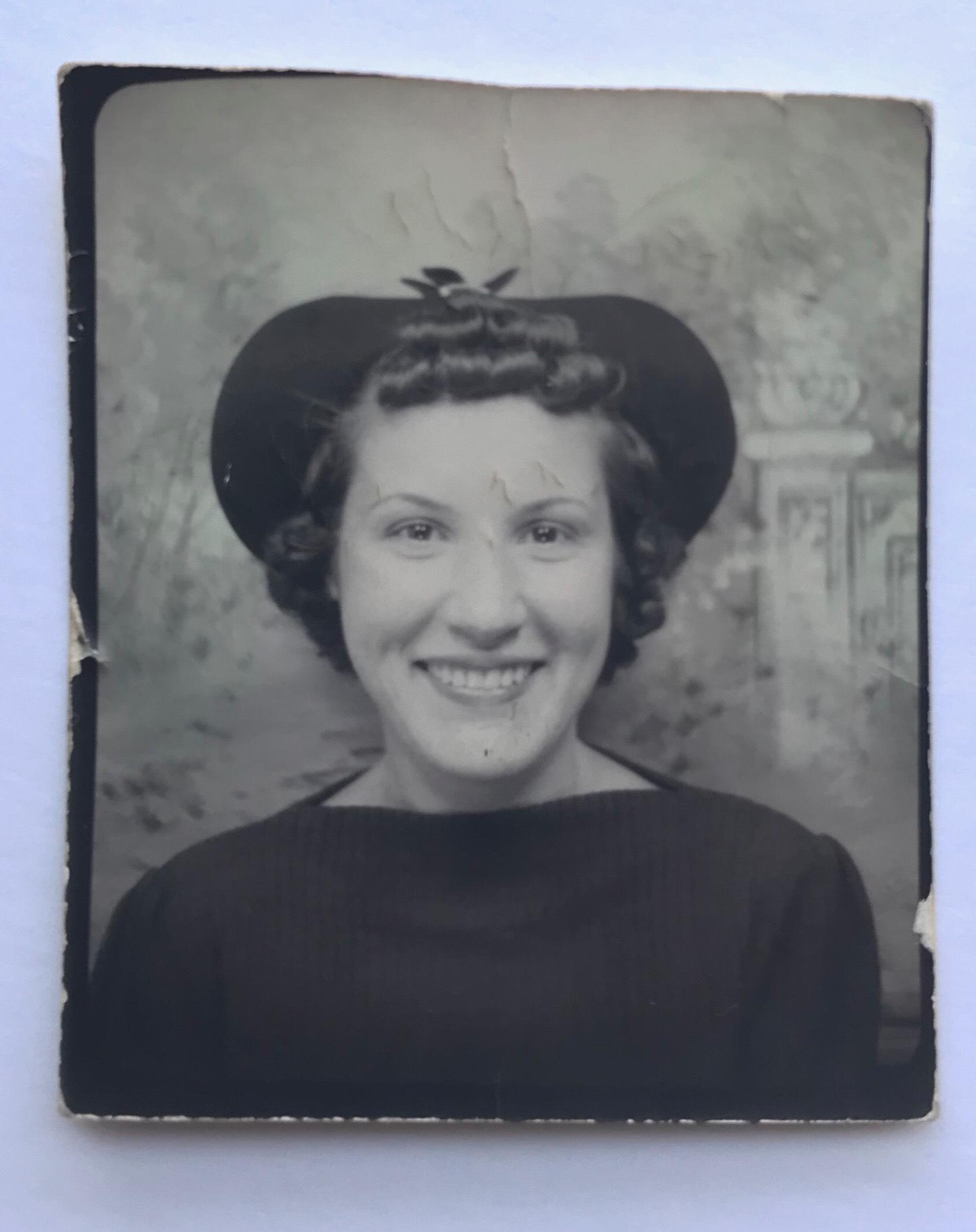 "Written on the back: ""Ann Warren Oct. 31, 1937"""