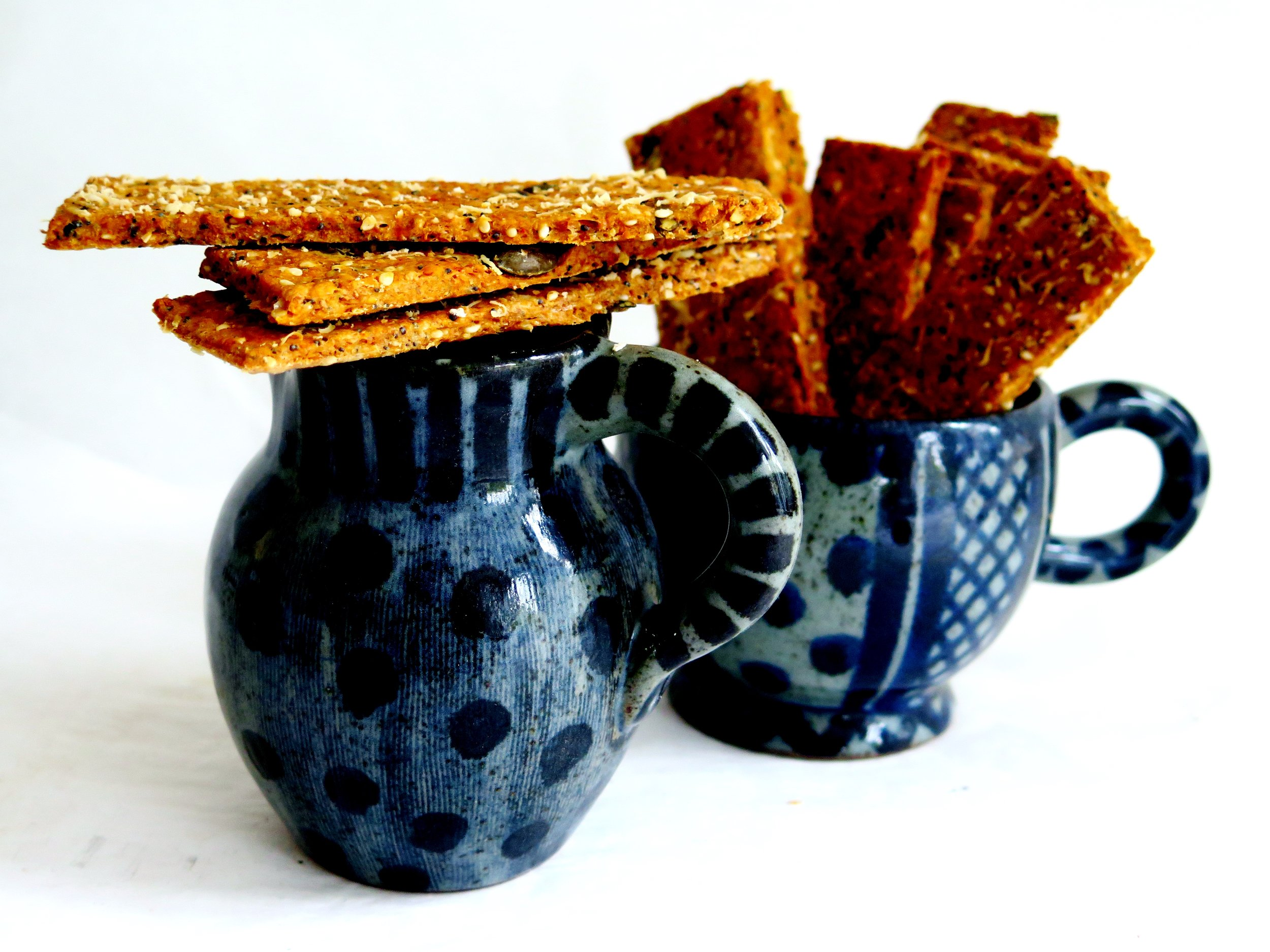 Seeded Spelt Crackers - Recipe