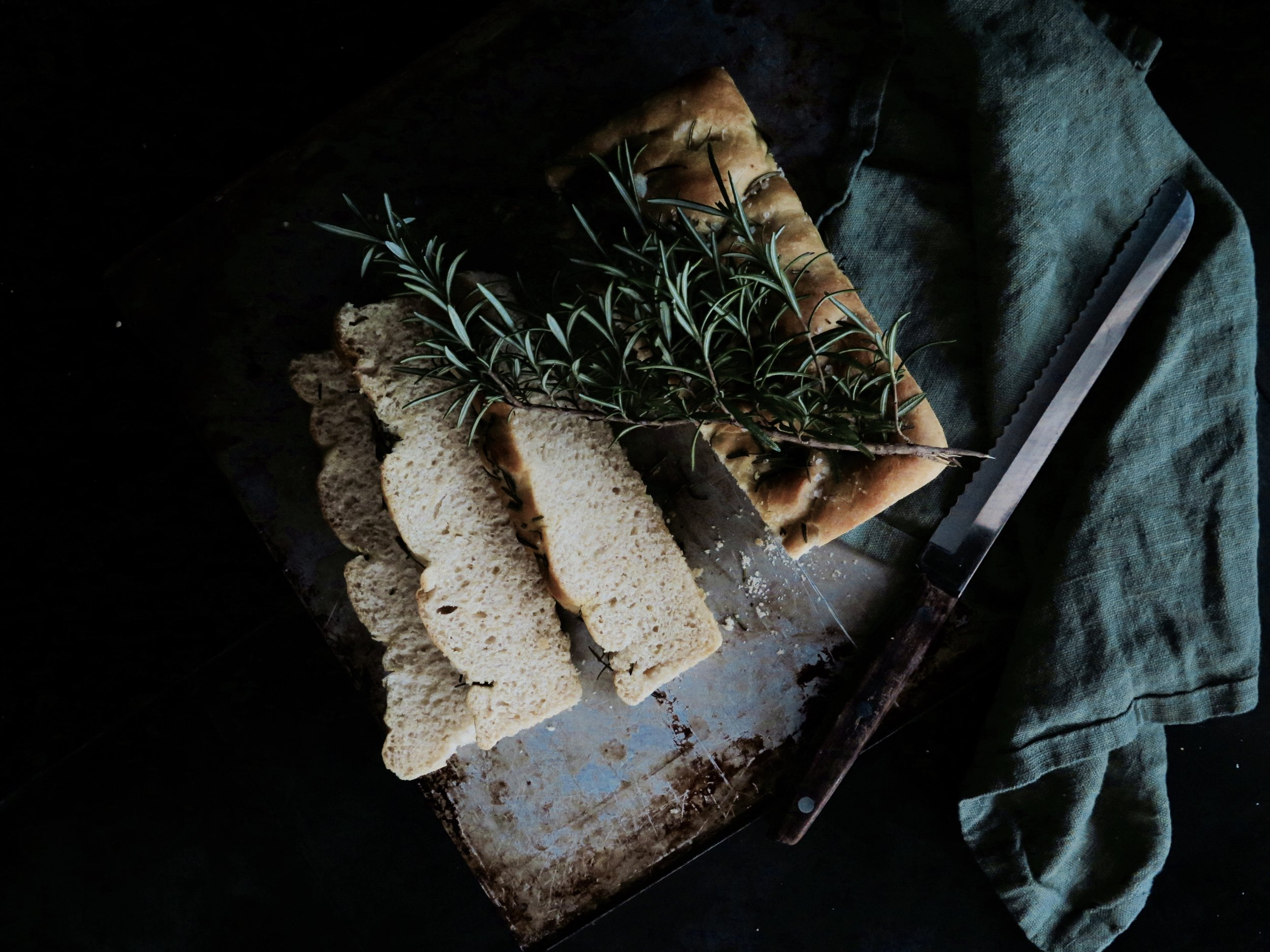 Vegan Rosemary Sea Salt Focaccia