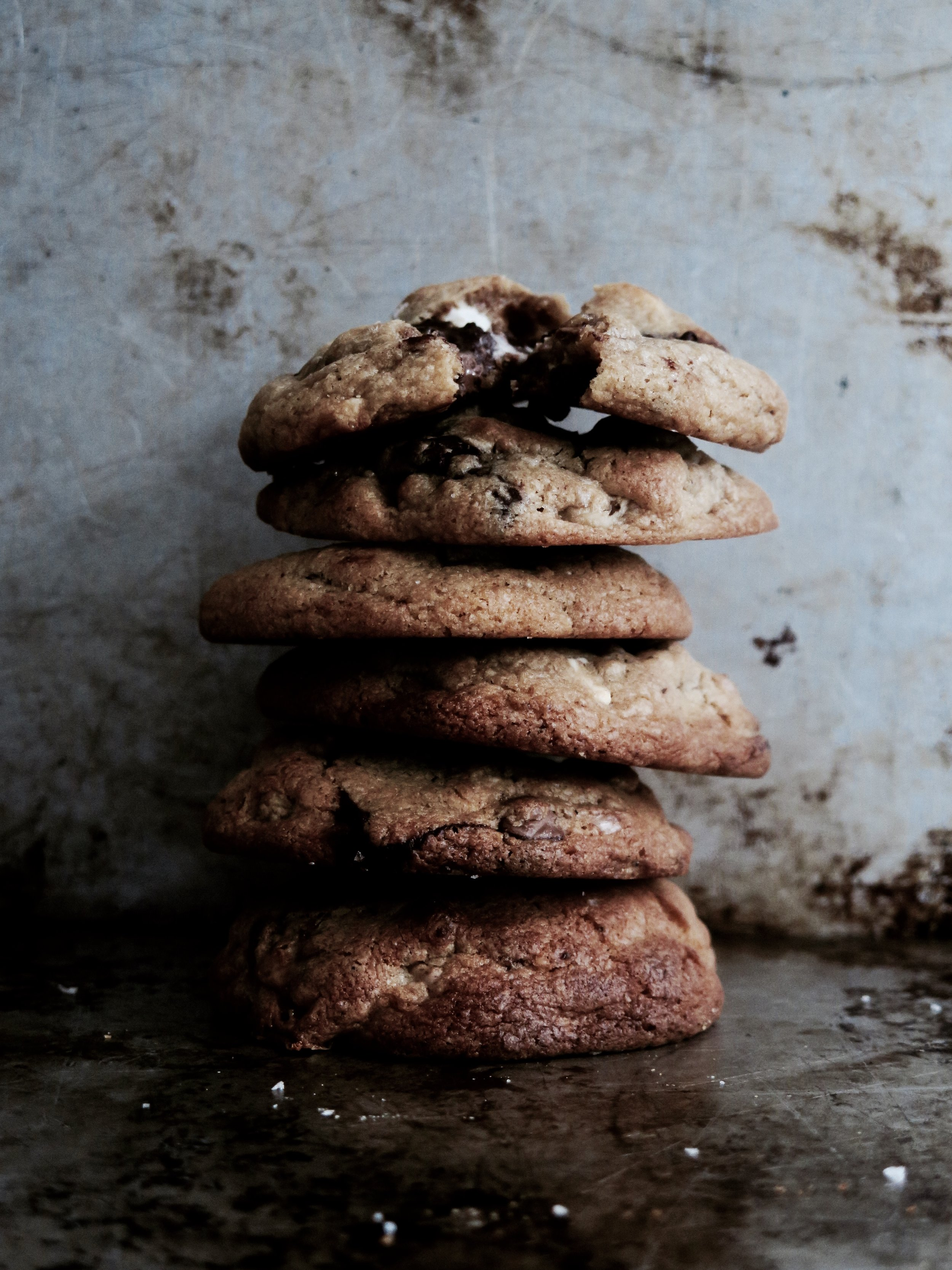 The Ultimate Chunky Chewy Triple Chocolate Cookie