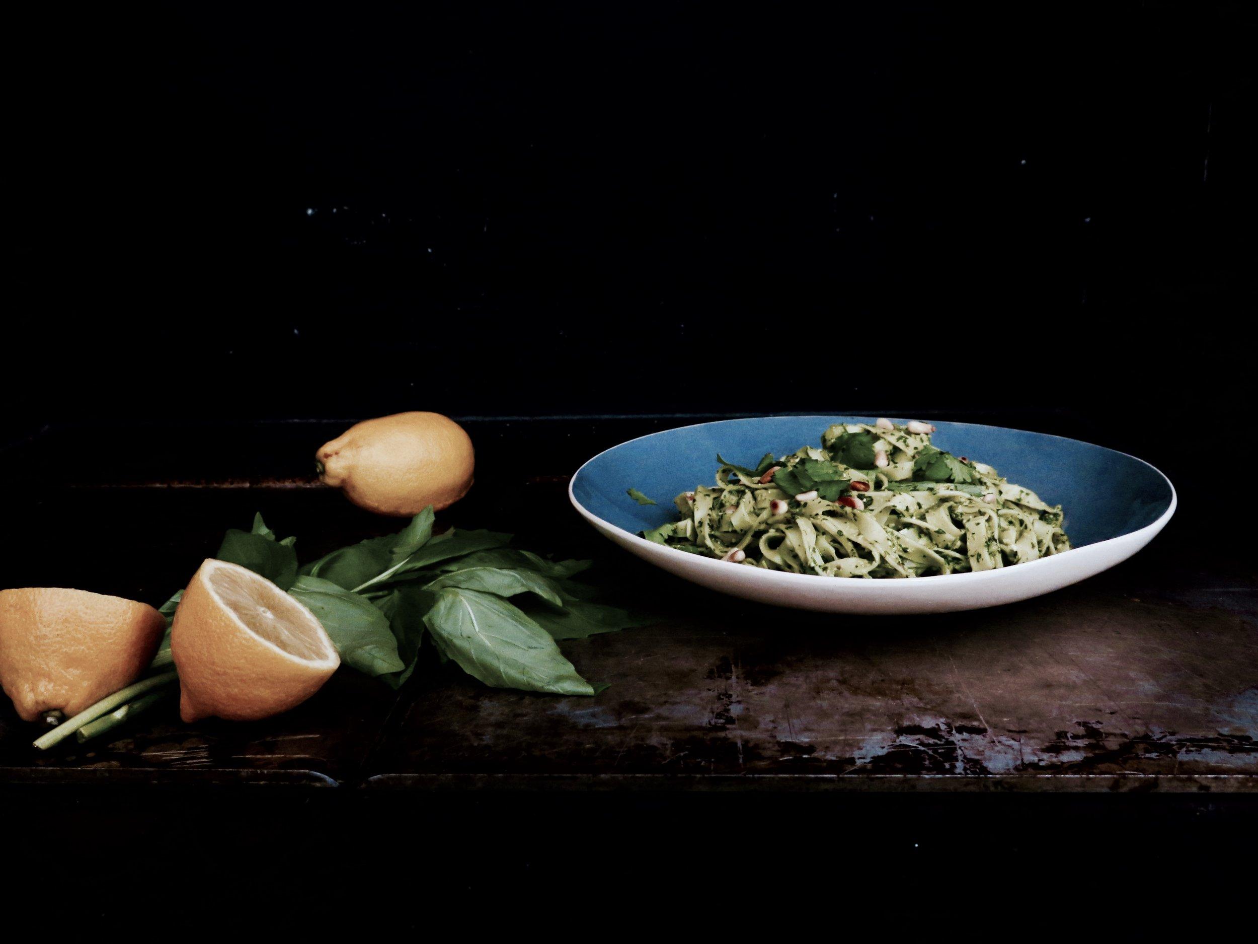 Lemon Chilli Coriander Pesto Tagliatelle