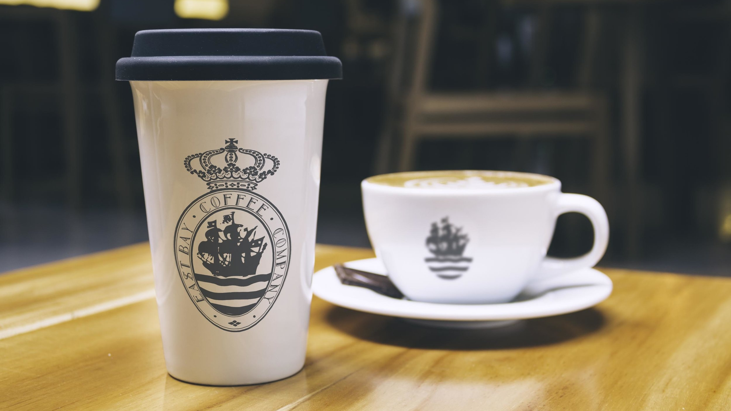 Logo mockup for East Bay Coffee Co
