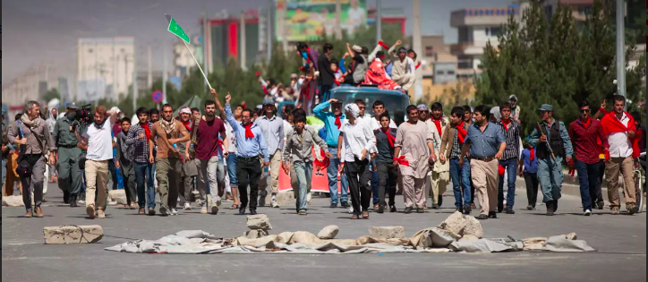 Anti-fraud protesters march in Kabul on June 21. Photo by David Fox