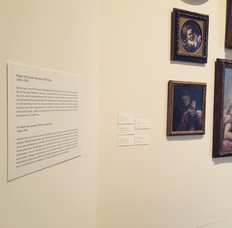 Labels giving more in-depth information about paintings and artists have been put up in every gallery.