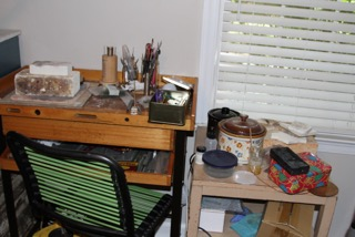 I have all my office jammed in here with my workbenches and equipment