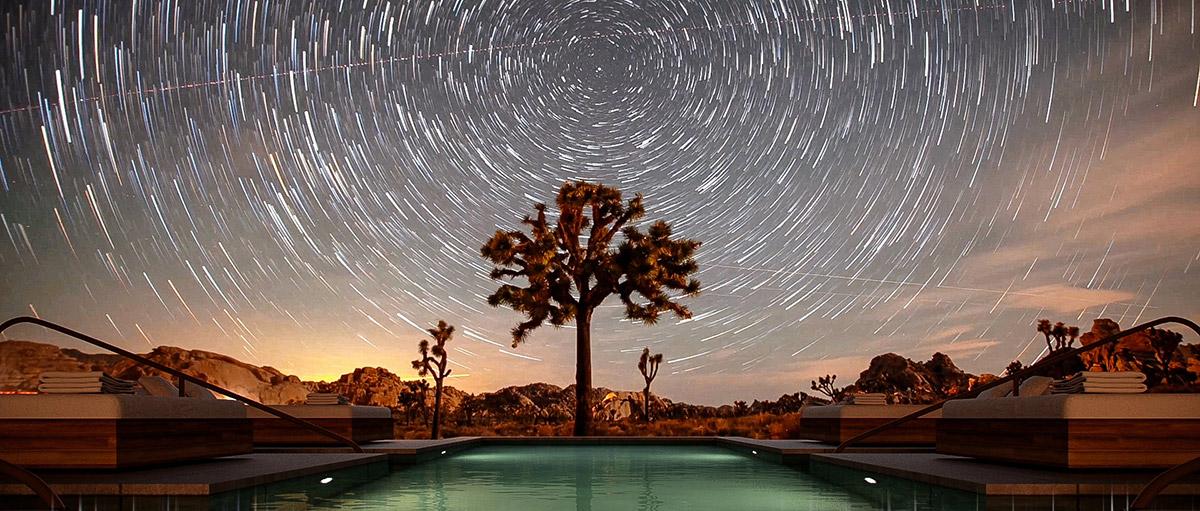 Desert View from Portal Courtyard