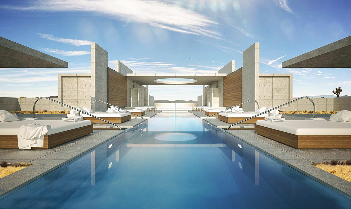 Main Swimming Pool and Sun Lounge
