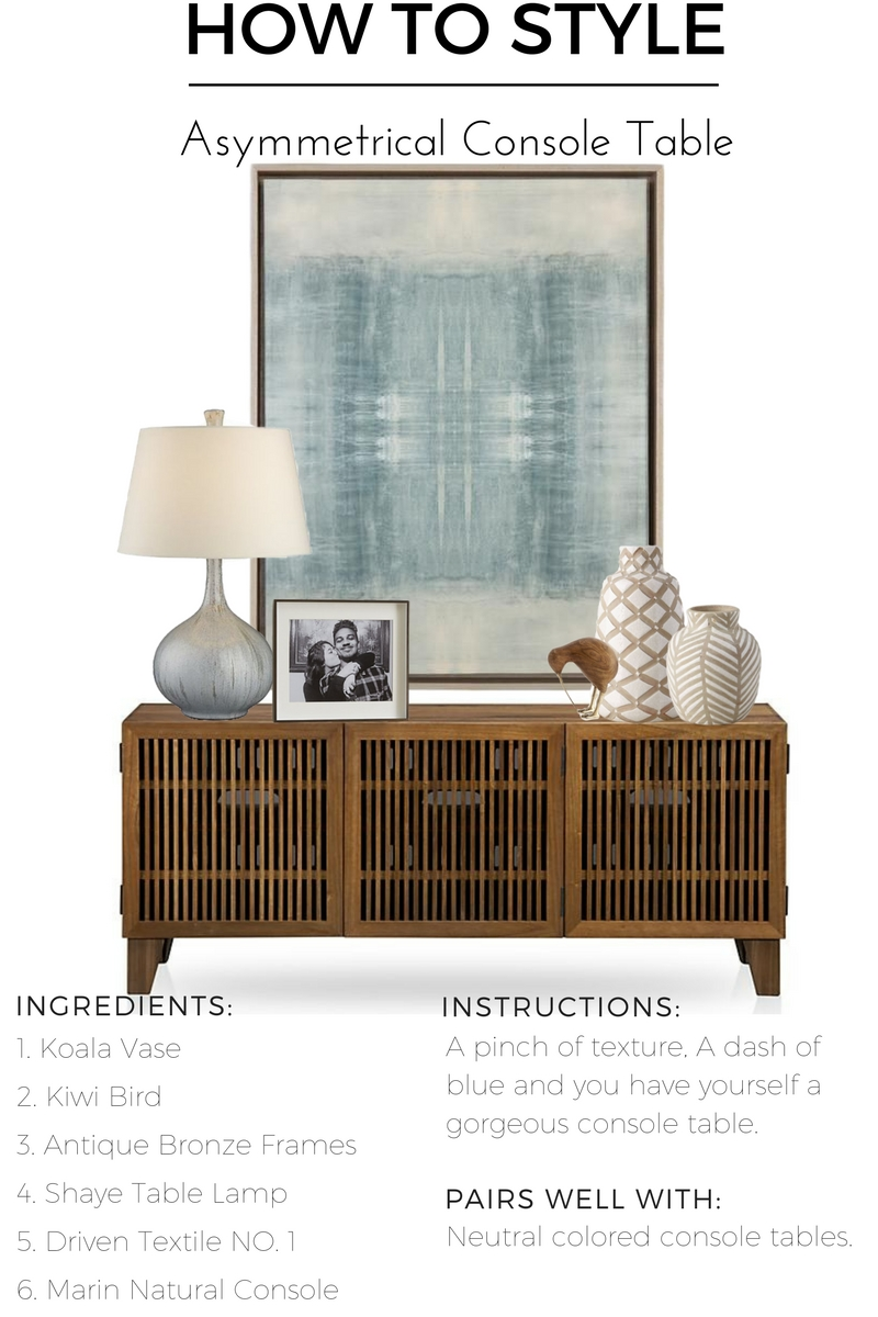 decorate console table