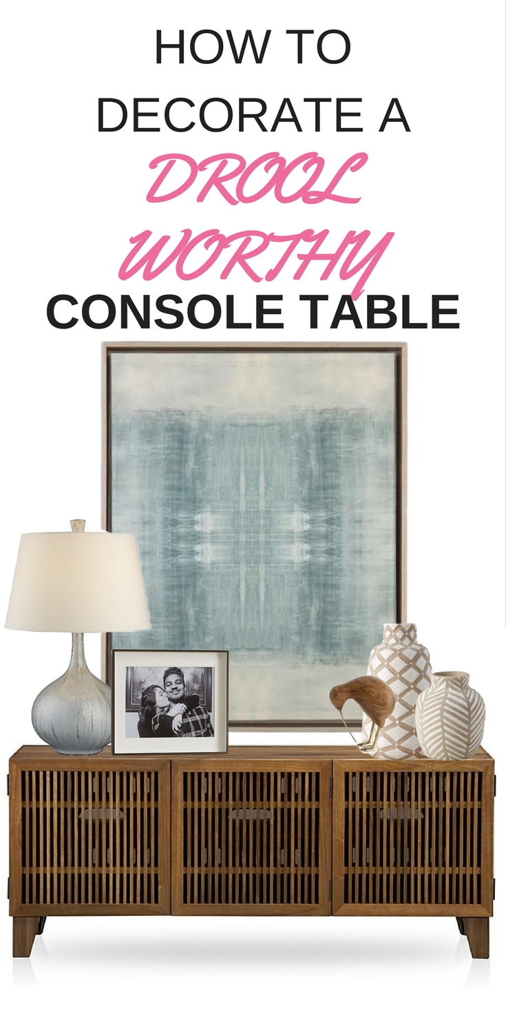 how to decorate a drool worthy console table. Media Table,