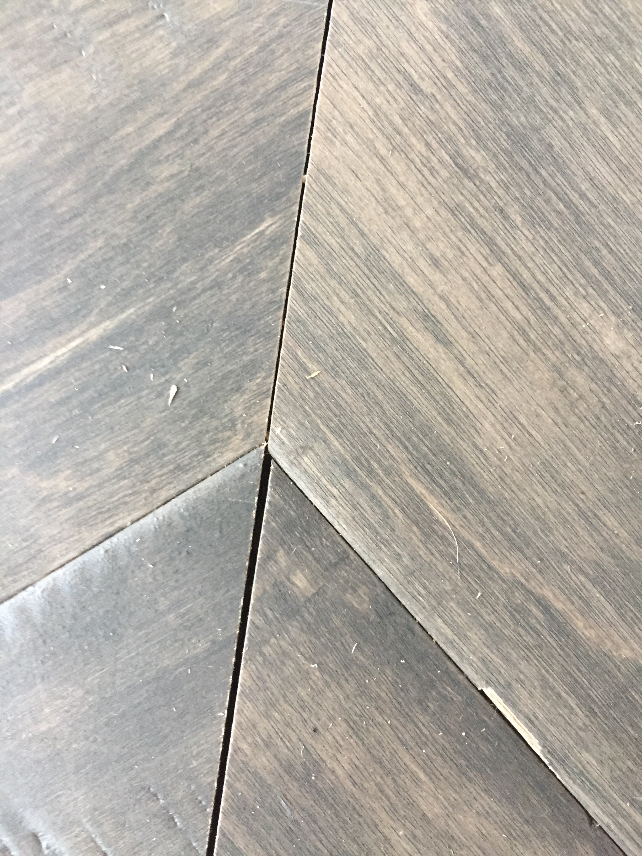 diy chevron floor