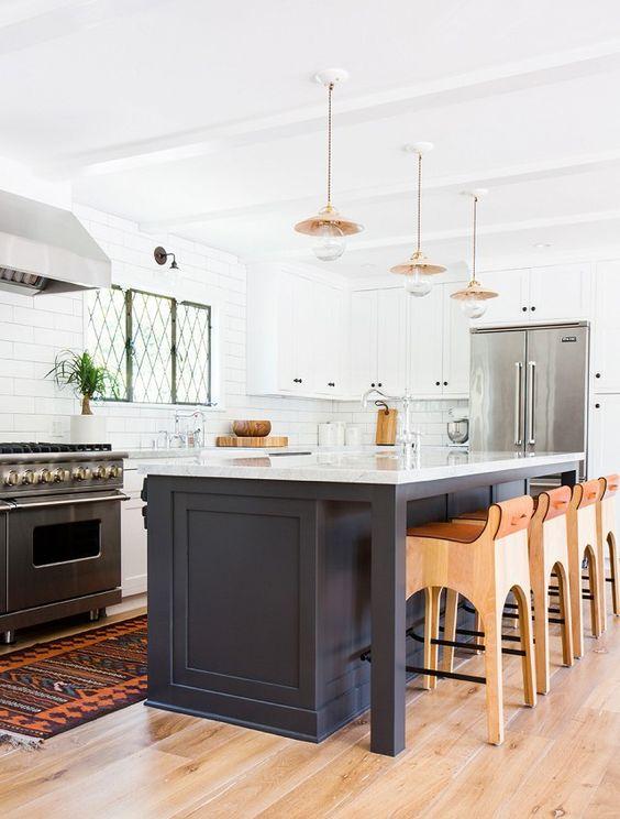 dark navy kitchen