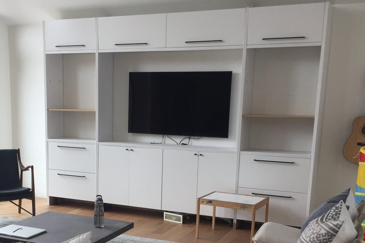 IKEA SECTION TV UNIT HACK