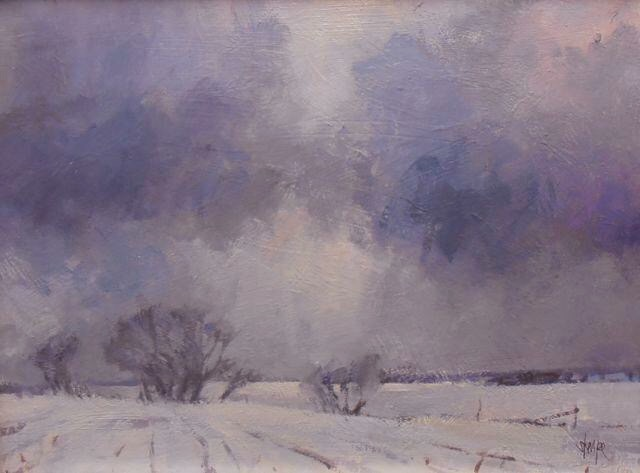 'Winter Clouds-Sideroad 122' (Sold)
