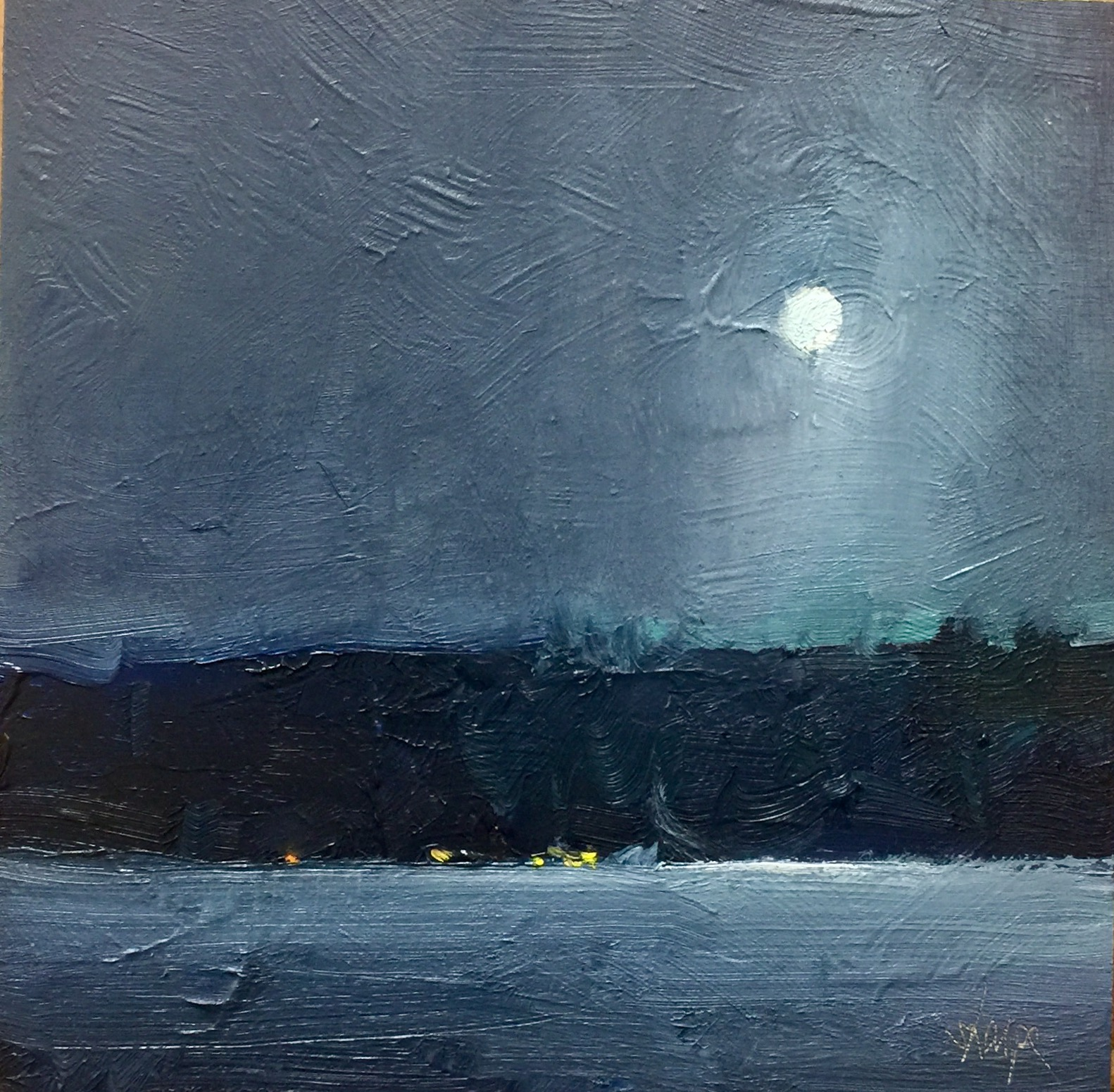 'Lights Across The Ice' (Sold)