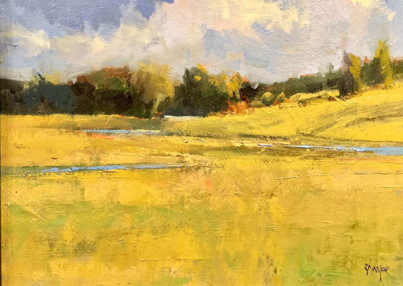 'The Thames Near Fullarton' 9x12