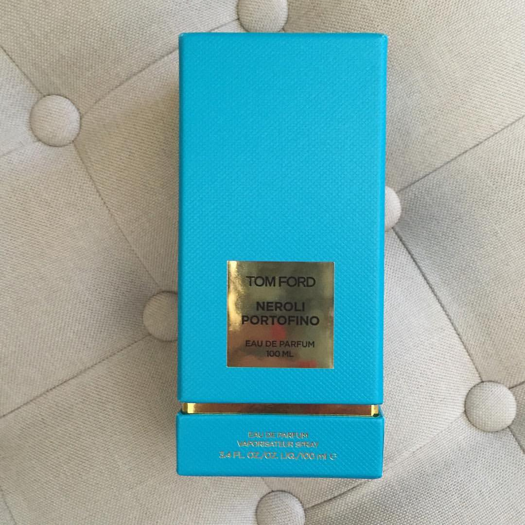 When I ran out of my all-time #favorite #summer #scent I had no choice but to buy more–and I splurged in the larger size! $80 more for twice the juice? #nobrainer #bargain @tomford #neroliportofino #fragrance #perfume #yummy