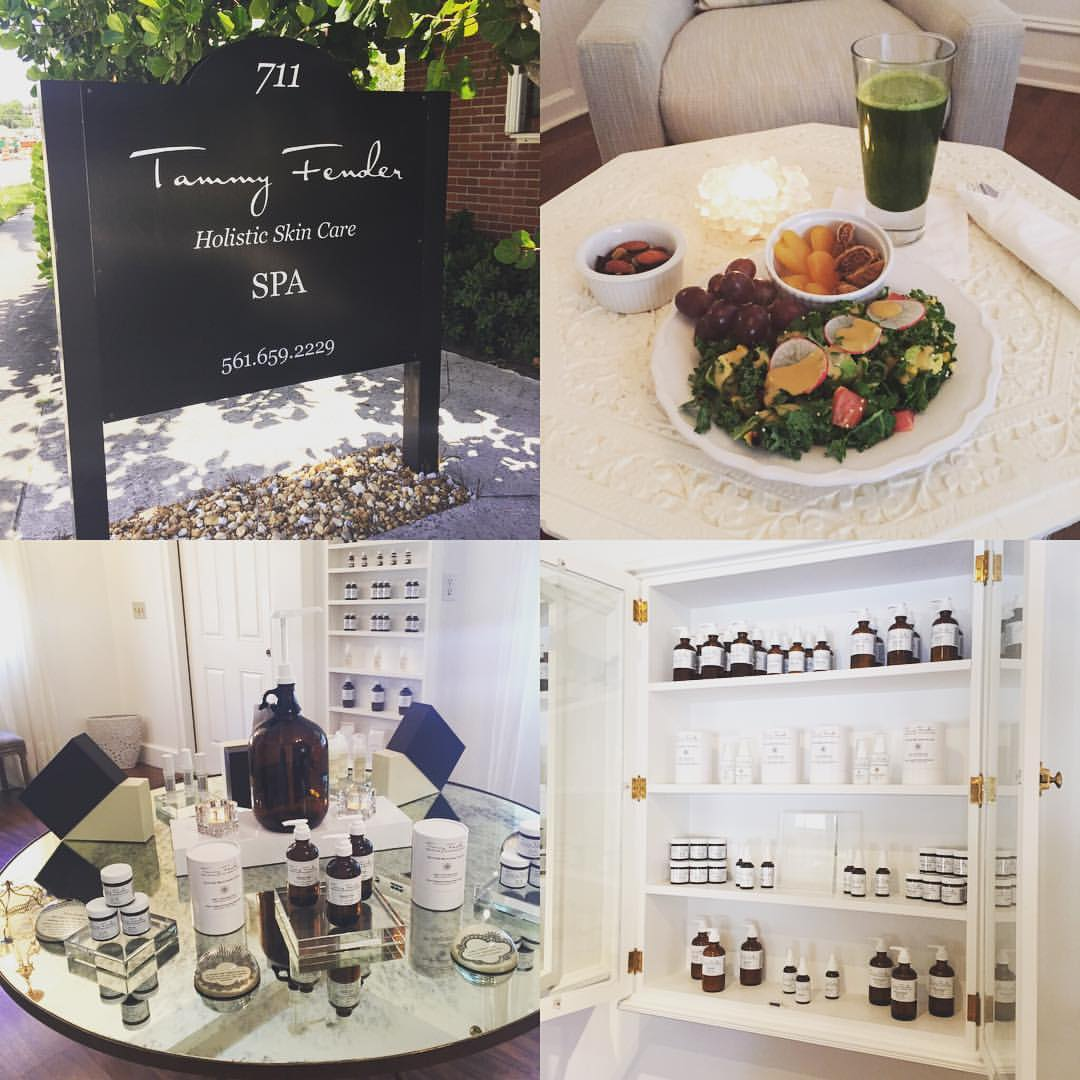 This is how you ease back in after #vacation… @tammyfender #facial #skincare #beauty #meditation #lunch #bliss #blogger #holistic #westpalmbeach  (at Tammy Fender Holistic Skincare)