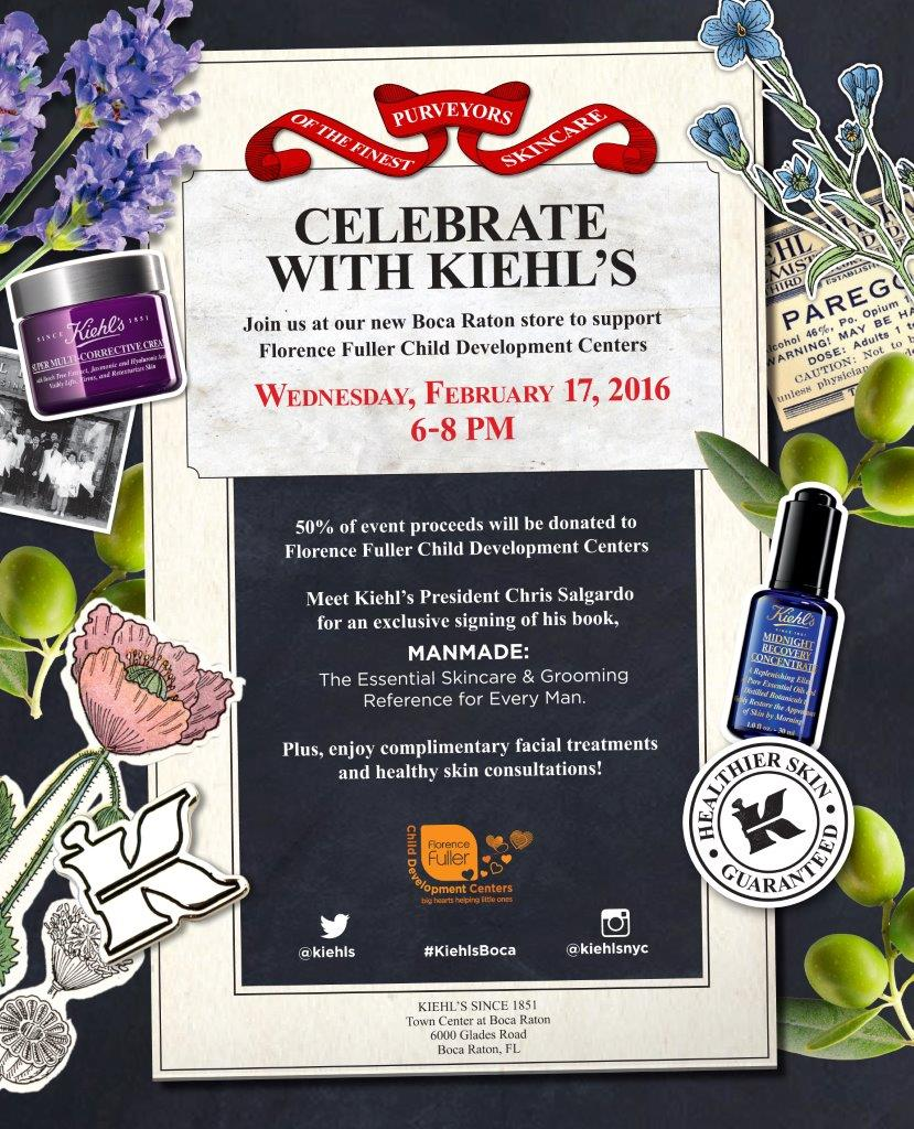 Listen up, Boca-area people! Comecelebrate the opening of the new Kiehl's store in Town Center next week!