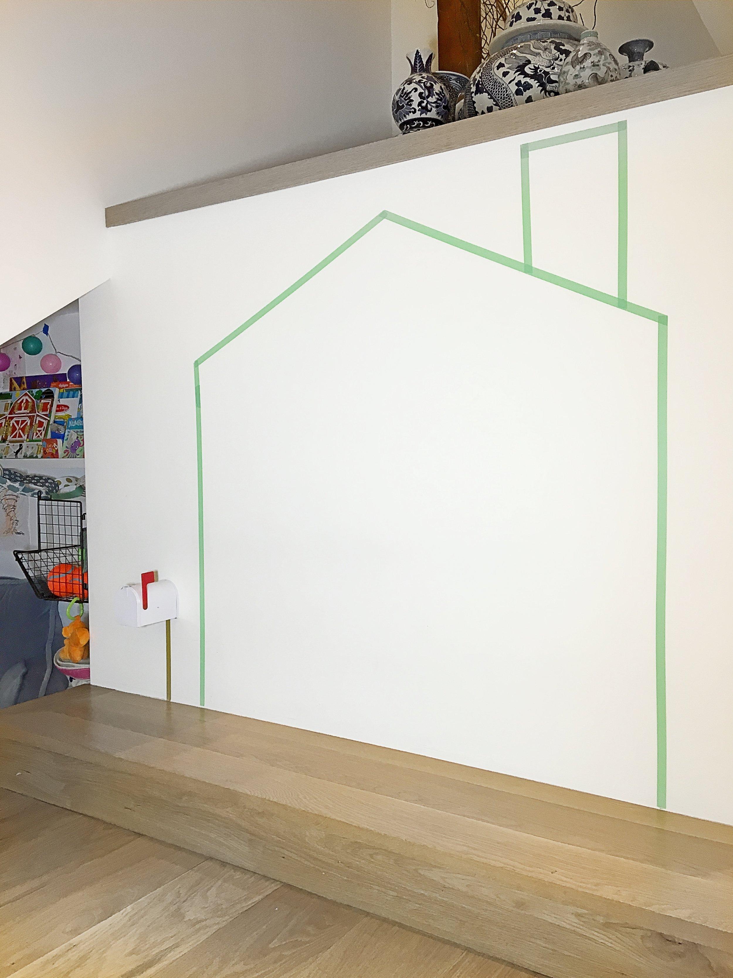 Washi Tape House + Mailbox