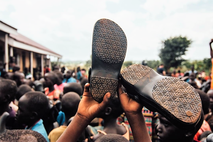 Project 16 Insight 7/2/19: - Manny Ohonme grew up in Nigeria and received his first pair of shoes at the age of nine. Years later after traveling to the United States his vision and passion to provide shoes for children all over the world sparked. In 2003, Samaritan's Feet was established and has provided more than 6.5 million pairs of shoes to individuals in need across 88 countries.Our partner organization for Project 16 provides hope and encouragement to children around the world through shoes. Join us today! #GiveYourMite #zeroshoelesschildren*Photo credit Samaritan's Feet