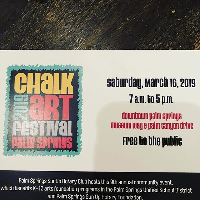 See you all Downtown tomorrow!!! #chalkartps2019