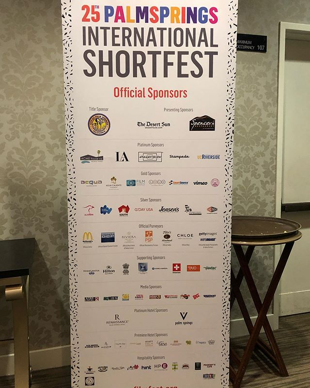 Thank You Sponsors!!!!! Day 3 of #shortfest19 @psfilmfest