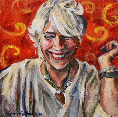 "Joy, Acrylic on Canvas, 12""w x 12""h,  SOLD"
