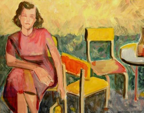 """Saturday Night, Watercolor Gouache, 23""""w x 20""""h"""