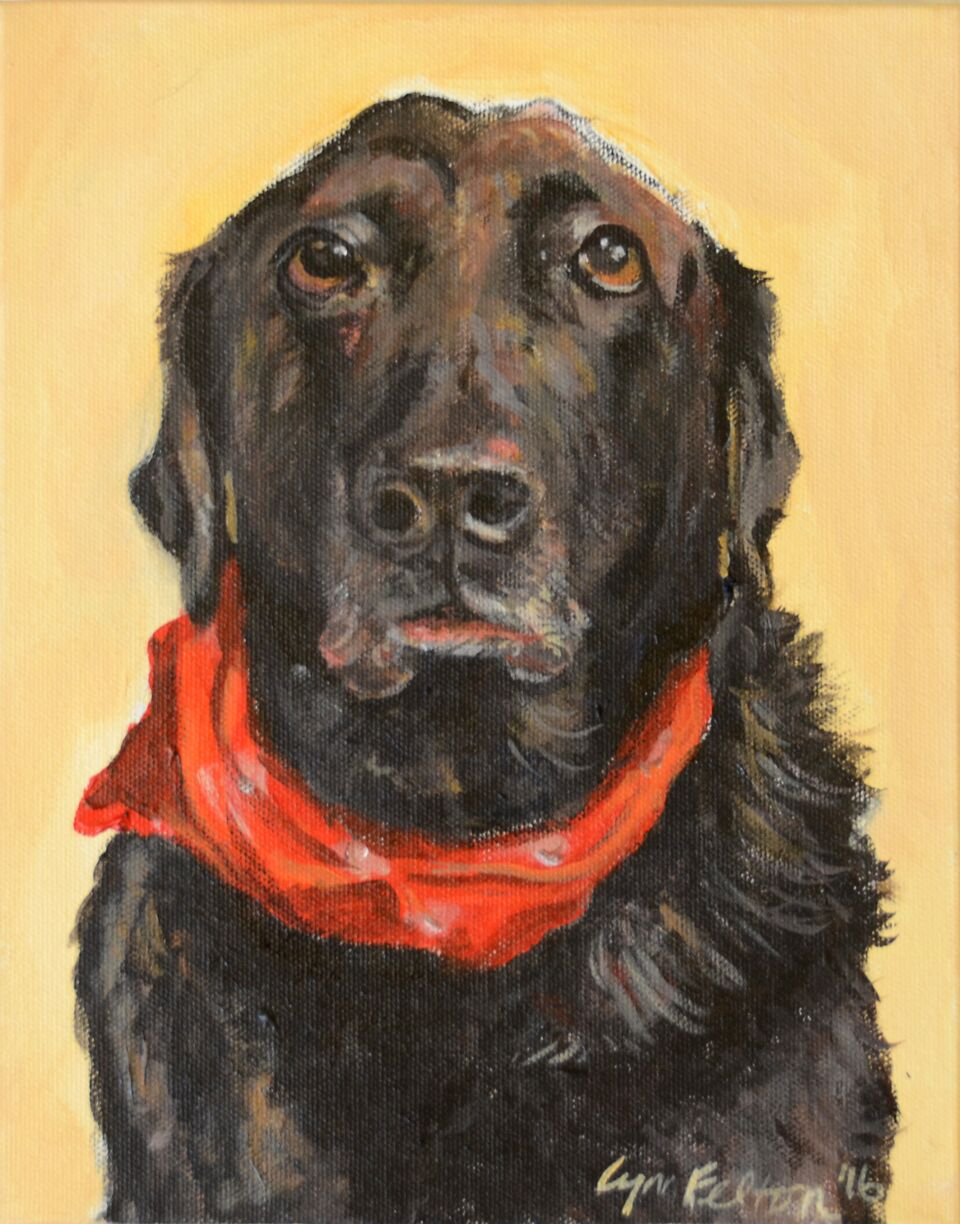 "Sadie Girl, Acrylic on Canvas, 8""w x 10""h,  SOLD"
