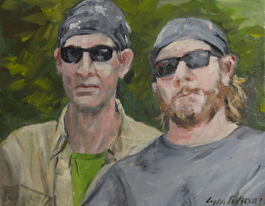 "The Dudes, Oil on Canvas, 14""w x 11""h, nfs"