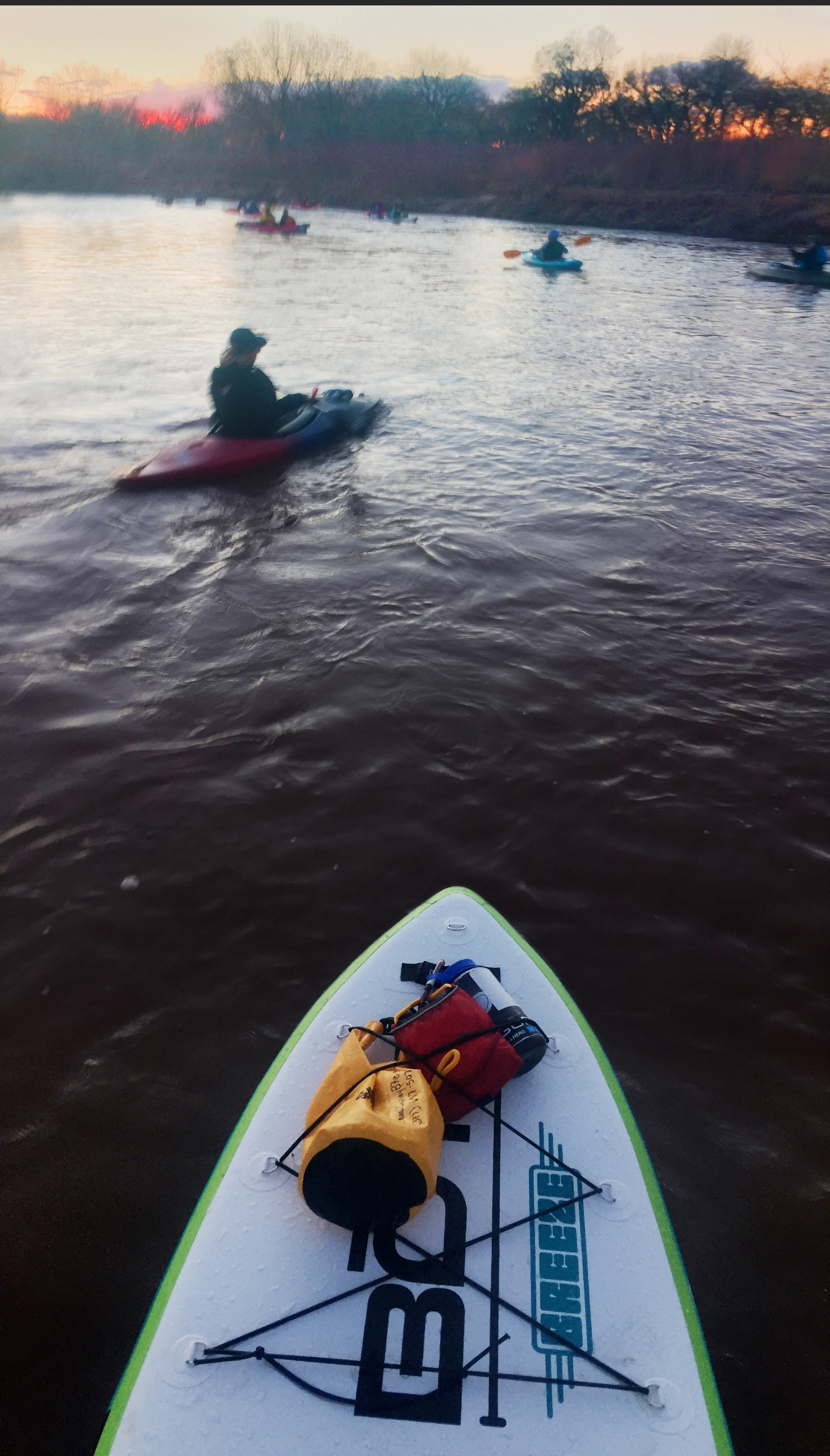Traveling on the SUP allow for a different perspective of the river.