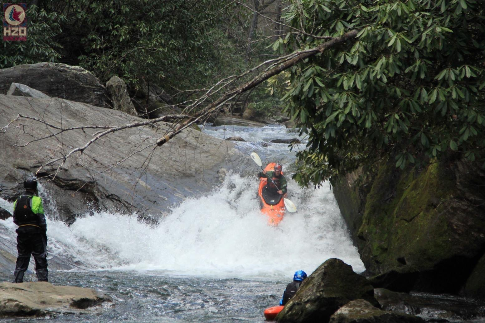 A strong team can help mitigate the risk while tackling a new run. Whether it's scouting from shore or offering safety mid river. Photo: Chris Wing of  H20 Dreams
