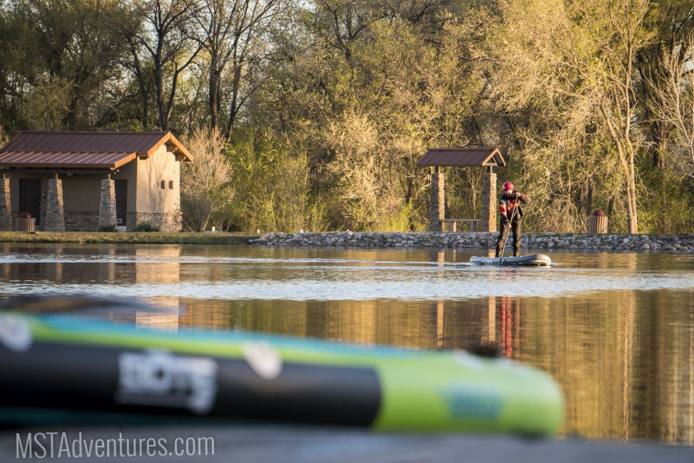 Its hard to beat watching trout rise at sunset from a SUP...