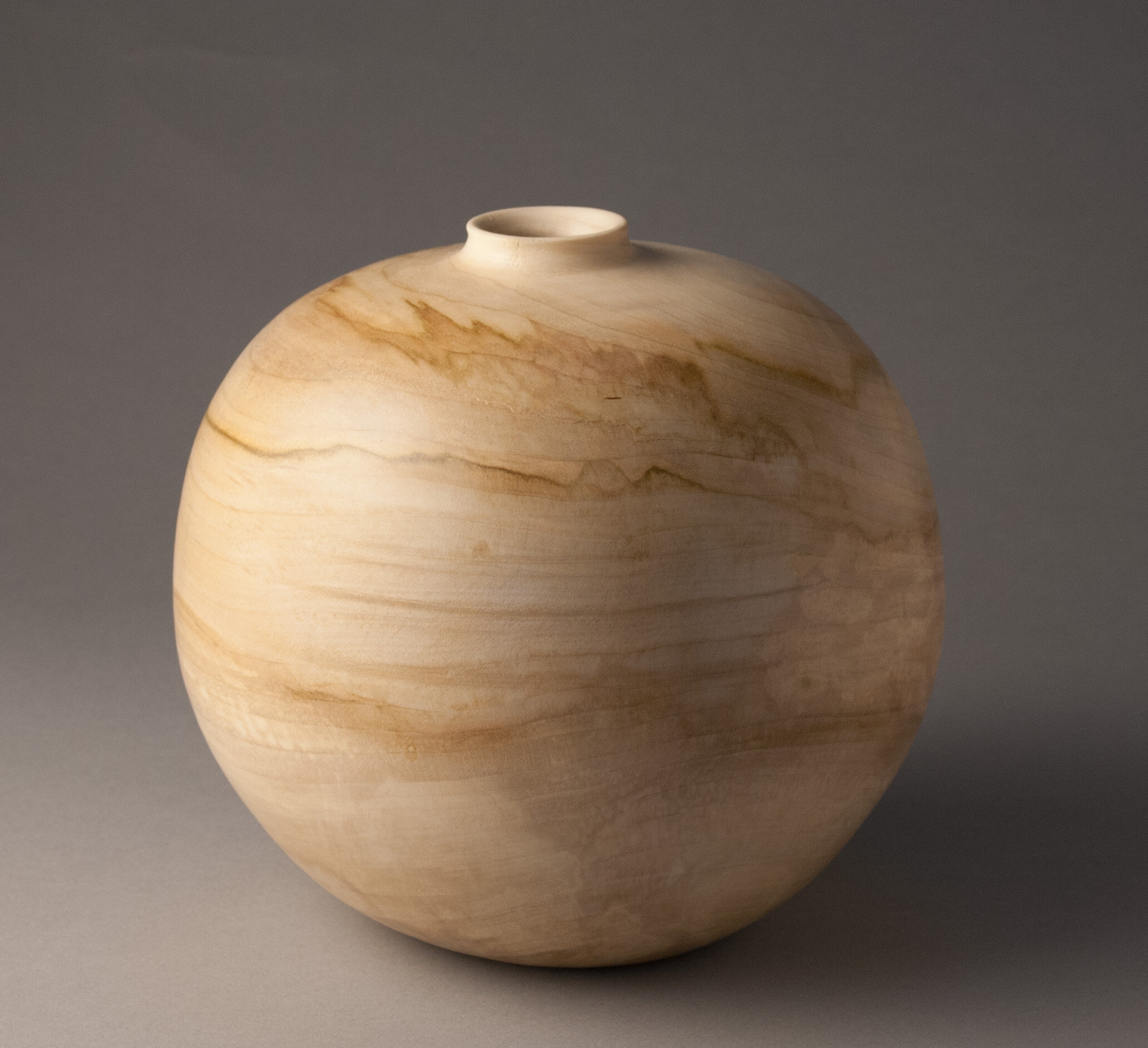 """Spalted Maple, 7""""H x 7""""D"""