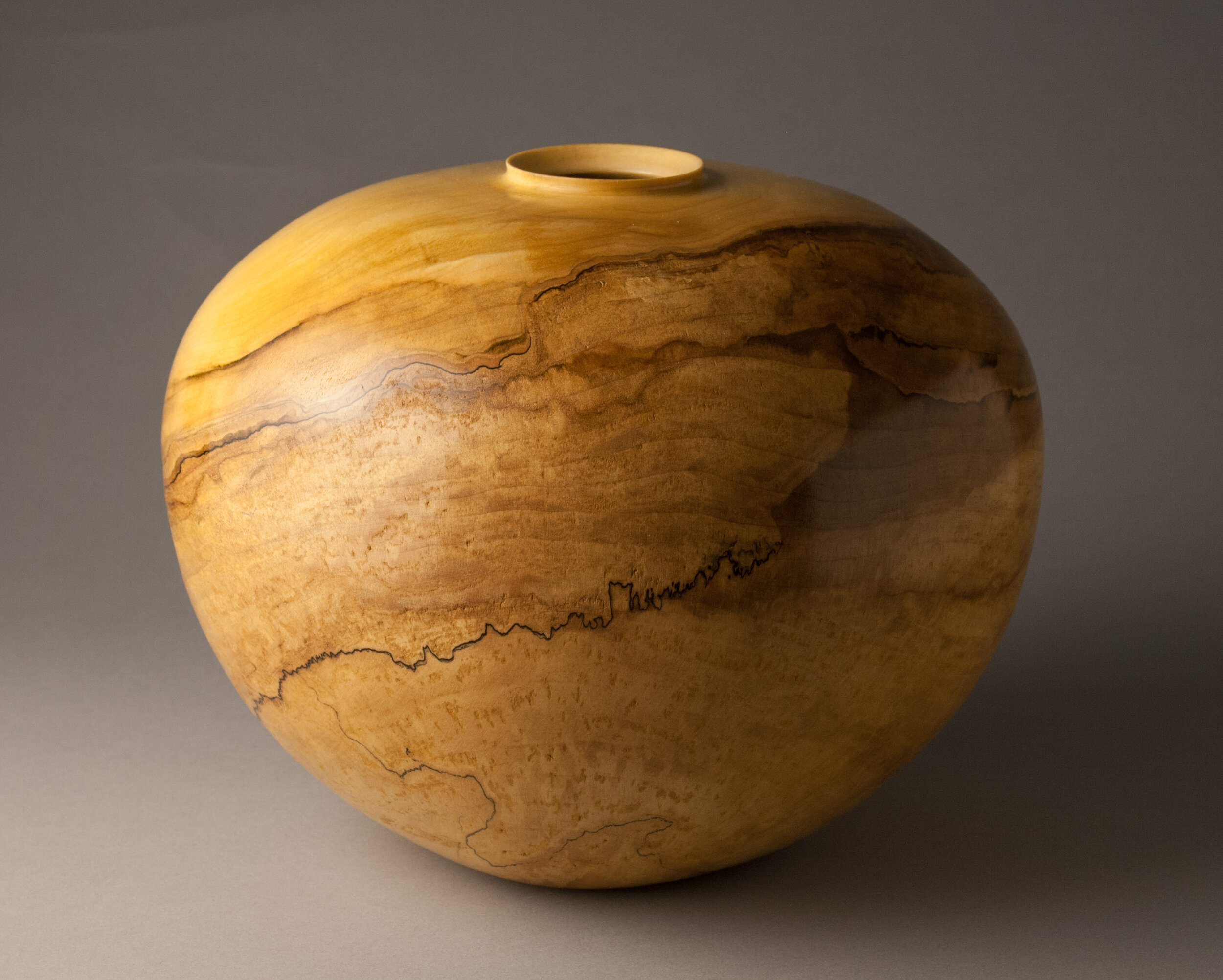 """Spalted Maple, 9""""H x 11""""D"""