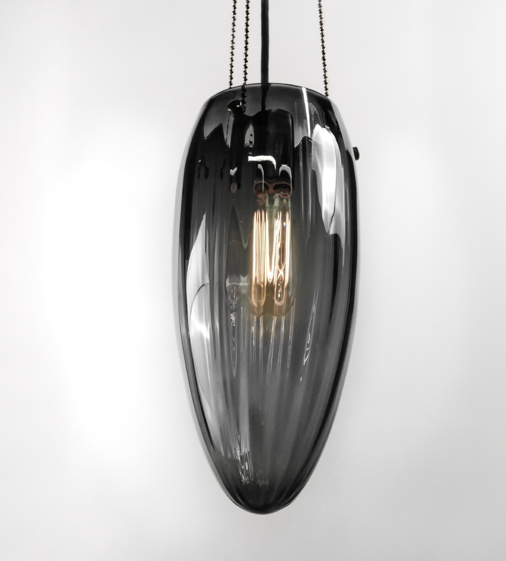 Shown in Dark Bronze with Gradient Grey Blown Glass