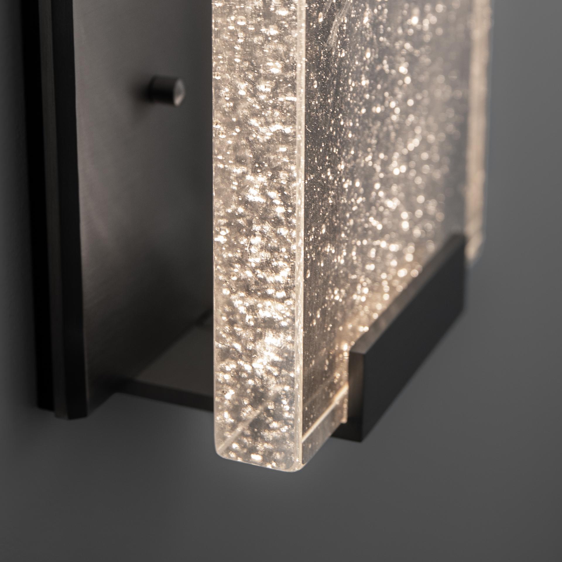Shown in Dark Bronze with Cast Crystal