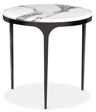 Camilla side table, arabescato marble top