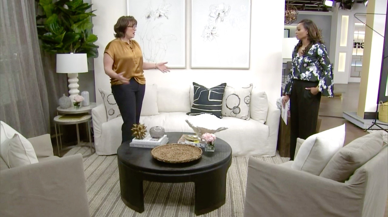 Kimberley Seldon (left) talks Nancy Meyers movie sets with CityLine host Tracey Moore.