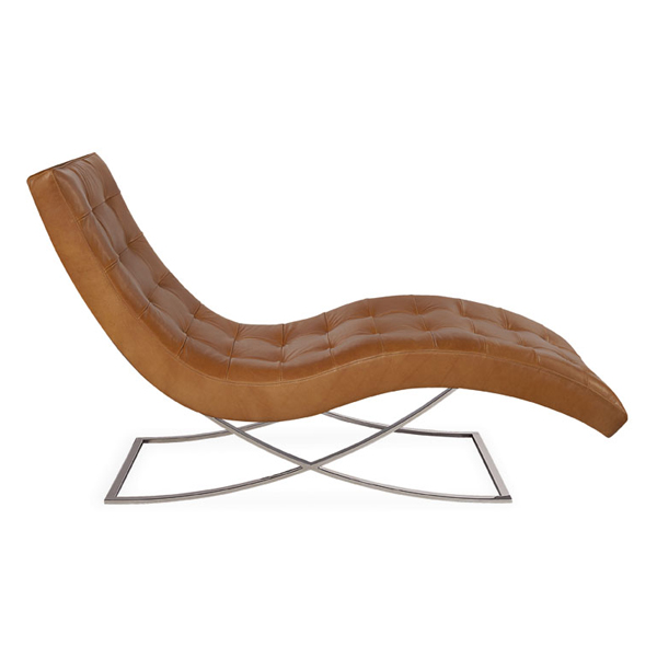 Chaise 1549-21 in leather, 27inW x 60inD x S: 16inH.  shop now.