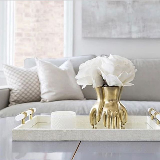 This is hands down one of our favourite accessories #nopunintended . . tray and vase available through @cocoonfurnishings 📷@vdesign #cocoonathome #designinspo #handsdown #oakvilledesigndestination #torontointeriordesign #freshdesign #accesorize #tablescapes #styling