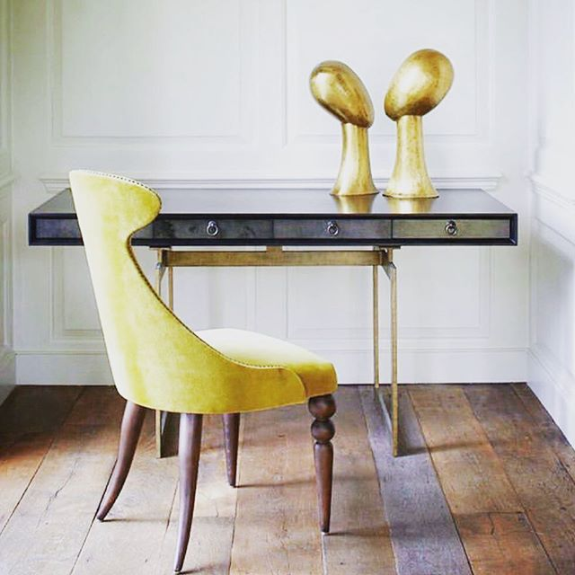 Sometimes two heads really are better than one 😉 . These stunning #goldenheads and the elegant #Cortez desk have just arrived @cocoonfurnishings from @julianchichesterusa