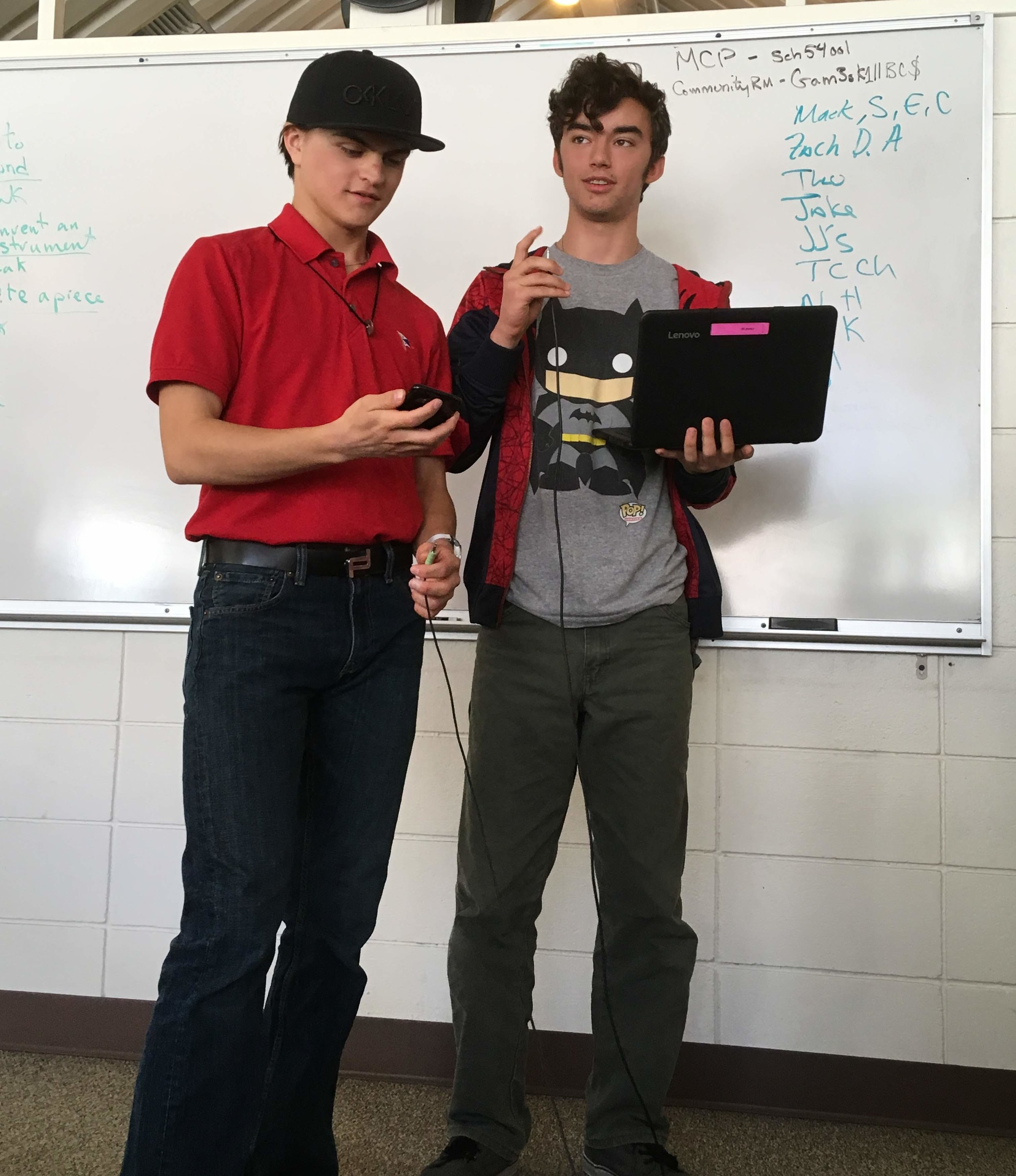Two students working together during a college preparatory program