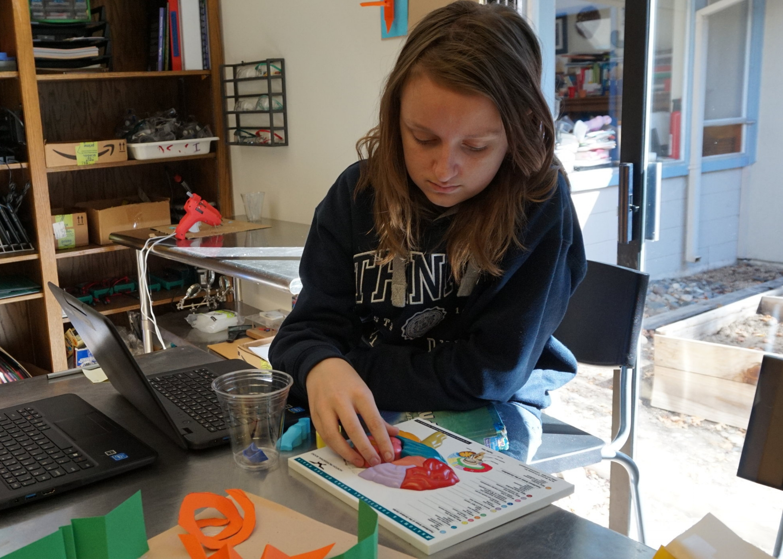 MCP student participating in hands on learning experience