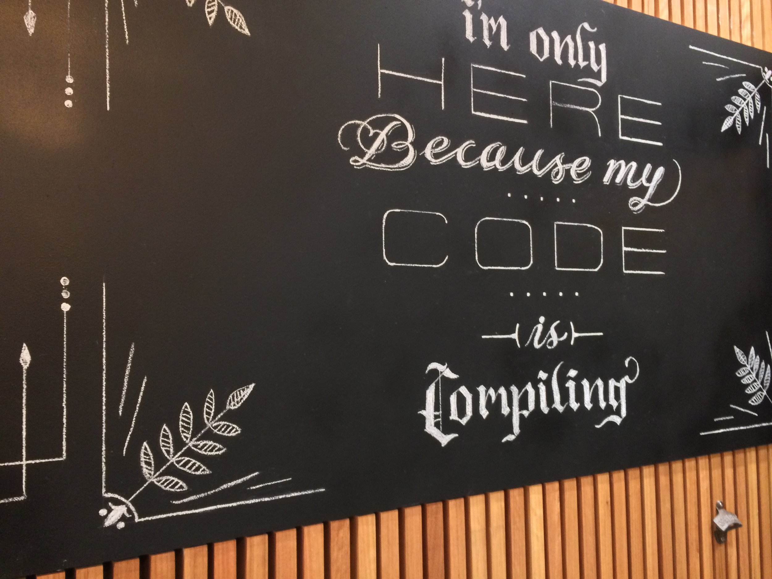 When the bar is in a tech startup office, the quote is as nerdy as they come.