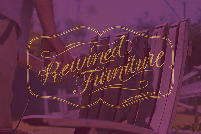 Rewined Furniture - Custom Logotype & Branding