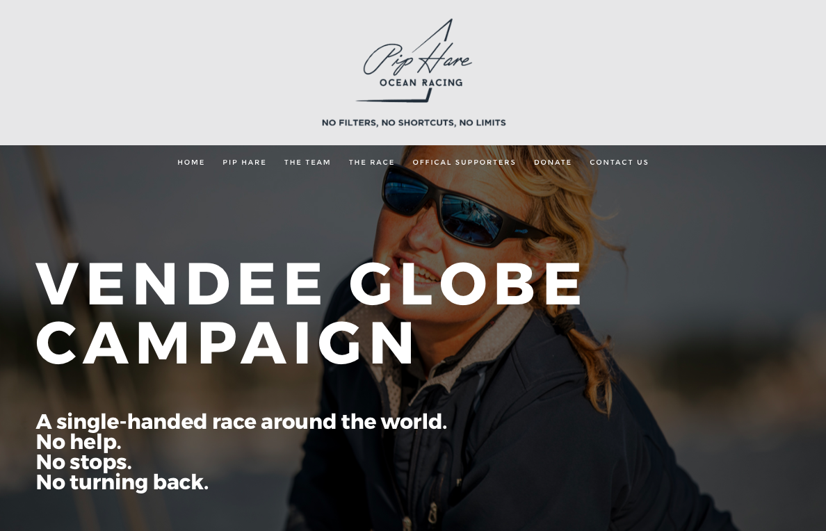 Pip Hare Ocean Racing Vendee Globe Campaign - Branding & Website Design