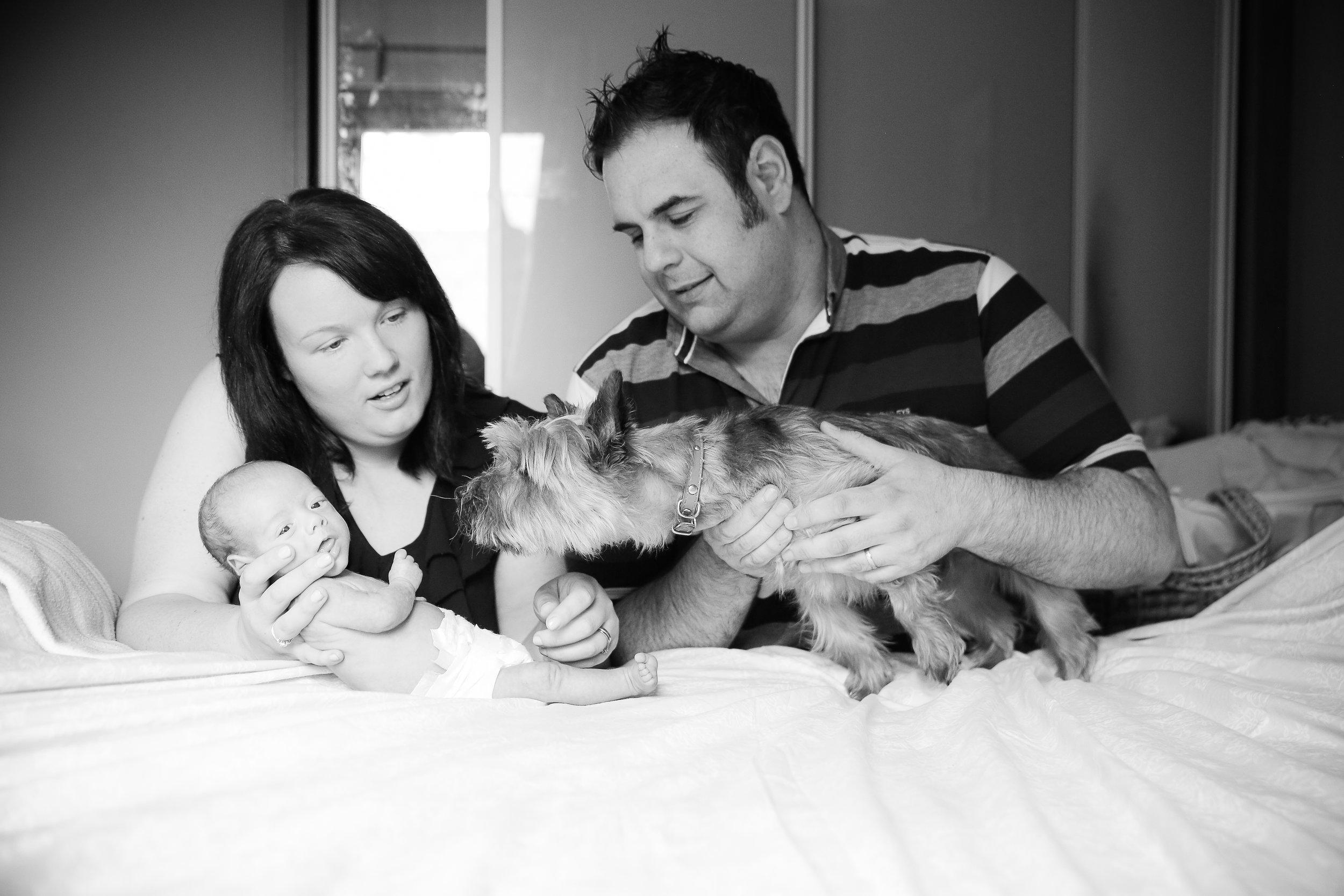 Our little family. Sam, Nicola, Ciarán and Freddie