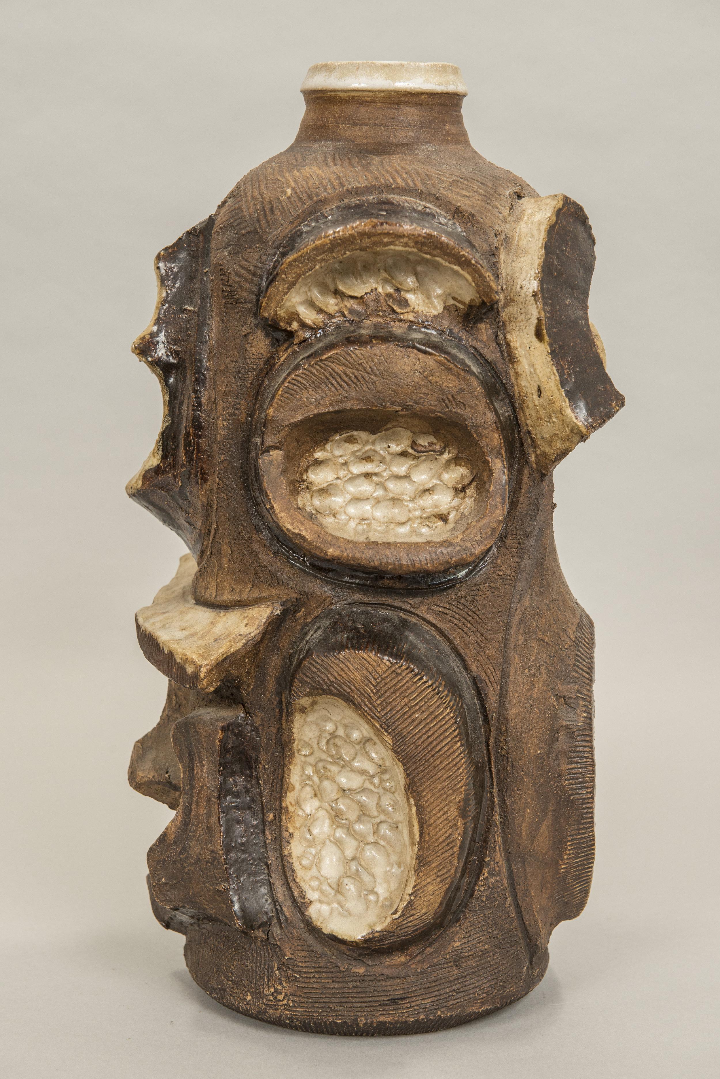 Sculptural ceramic vase