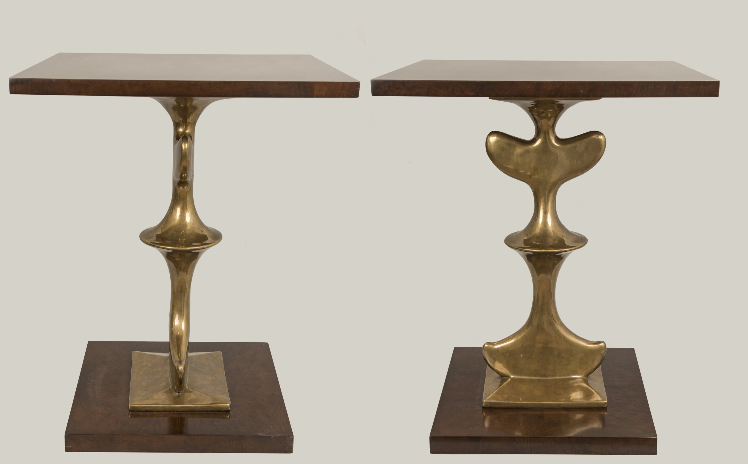 Pair of sculptural side tables